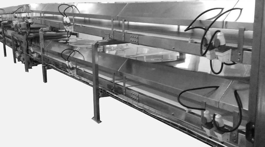 BREAD CAKE DOUBLE DECK SWITCH COOLING CONVEYOR