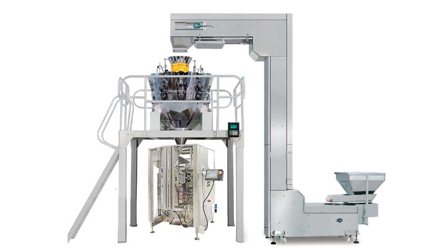 Vertical Form Fill Seal Machine With Multi head Weigher